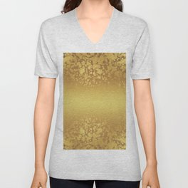 Chic Stylish Elegant Gold Glitter Confetti Unisex V-Neck