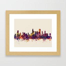 Chicago Illinois Skyline Framed Art Print