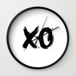 XOXO Hugs and Kisses black and white gift for her girlfriend bedroom art and home room wall decor Wall Clock