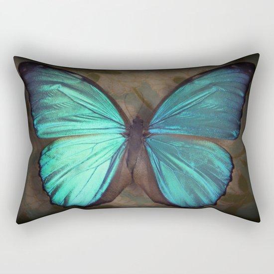 Vintage Butterfly Rectangular Pillow