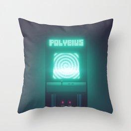 Polybius Arcade Game Machine Cabinet - Front Black Throw Pillow