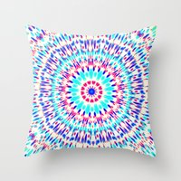 cosmic Throw Pillows featuring Cosmic by Abstracts by Josrick