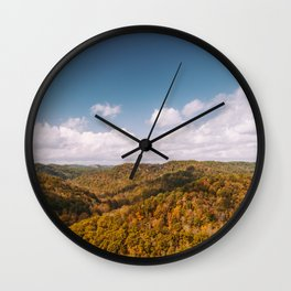 View of Red River Gorge, Kentucky Wall Clock