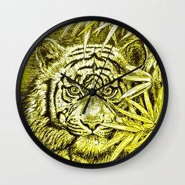 tiger - king of the jungle Wall Clock