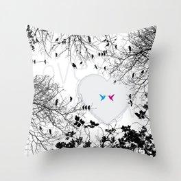 Love in air Throw Pillow