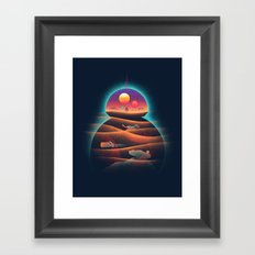 Droid-land Framed Art Print