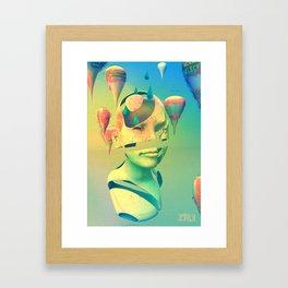 Data Drop (Yellow) Framed Art Print