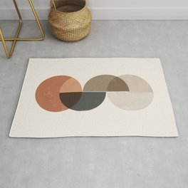 Geometric Circles Abstract 1 Rug