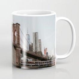 Skyline with Brooklyn Bridge   Colourful Travel Photography   New York City, America (USA) Coffee Mug