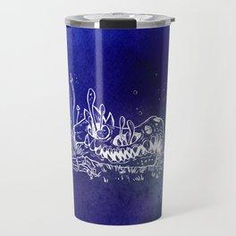 Dino skull – Blue Travel Mug