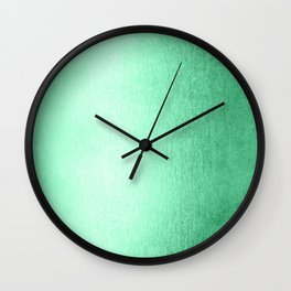 Mint Meringue Shimmer Wall Clock