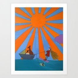 waterski Art Print