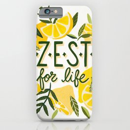 Zest for Life – Yellow & White Palette iPhone Case