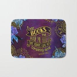 CP - Books Made Me Feel Not Alone (Purple) Bath Mat