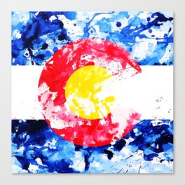 Colorado Watercolor Flag Canvas Print
