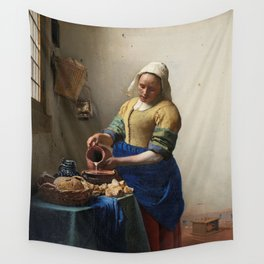 The milkmaid, Johannes Vermeer, ca. 1660 Wall Tapestry