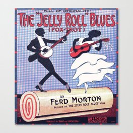 Vintage poster The Jelly Roll Blues Canvas Print
