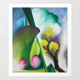 The Colors and Sights of Spring Portrait Painting by Georgia O'Keeffe Art Print