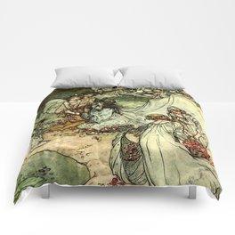 """Titania"" by Arthur Rackham From Shakespeare Comforters"
