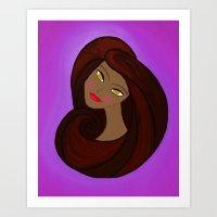 Sable Mod Girl Art Print