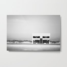 Marfa in the Wind Metal Print
