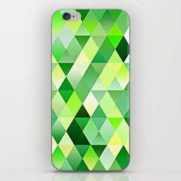 Lime Green Yellow White Diamond Triangles Mosaic Pattern iPhone Skin