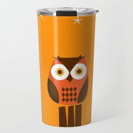 Owl on a Fence Travel Mug
