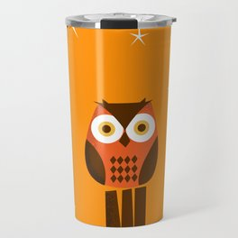 Owl on a Fence Travel Mug