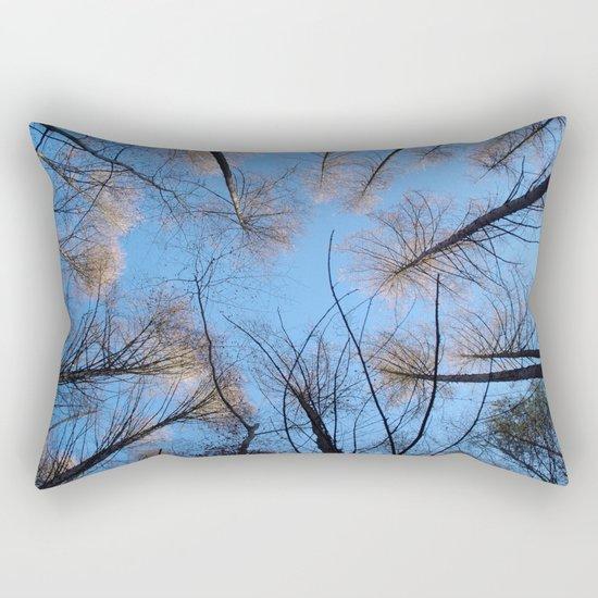Glowing trees II Rectangular Pillow