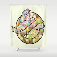 ghostbusters Shower Curtains featuring candy ghostbusters by Iamzombieteeth Clothing