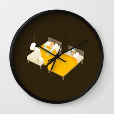 Sick In Bed Wall Clock