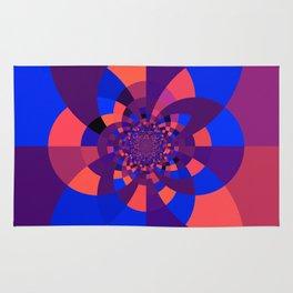 Kaleidoscope Purple Melon Cobalt Blue Rug