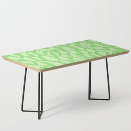 Overlapping Leaves - Light Green Coffee Table