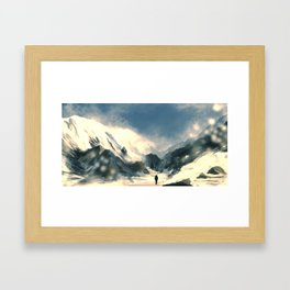 Mountain Trek Framed Art Print