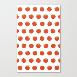 Sweet Red Tomato Picture Pattern Canvas Print