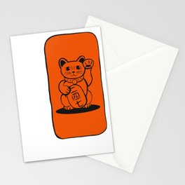 Lucky Cat 二 四 七 Stationery Cards