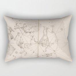 Johann Bayer - Uranometria / Measuring the Heavens (1661) - 48 Southern Constellations Rectangular Pillow