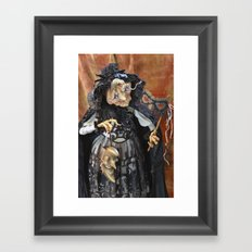 Rucus Studio Late to the Party - Pumpkin Lady Framed Art Print