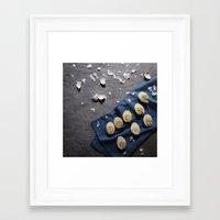 eggs Framed Art Prints featuring Eggs by Jelito de Leon