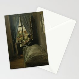 The Artist's Bedroom in Ritterstraße Adolph Menzel Stationery Cards