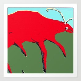 Red Bug Art Print