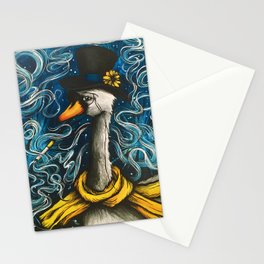 Smoking Swan Stationery Cards
