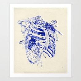 collarbone blue Art Print