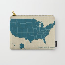 Modern Map - United States of America USA Carry-All Pouch