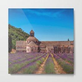 France Photography - Abbaye Notre-Dame De Sénanque Metal Print