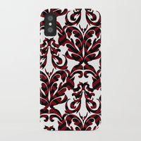 damask iPhone & iPod Cases featuring Damask by Annie Skrmetti