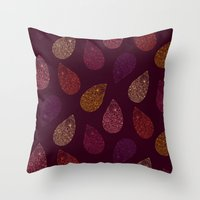 paisley Throw Pillows featuring Paisley by Vlada Young