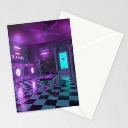 Laundromat blue Stationery Cards