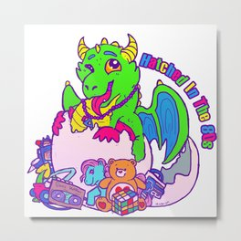 Hatched In The 80s Metal Print