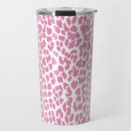 Chic Pink Cheetah Pattern Travel Mug